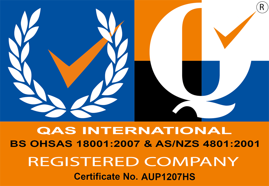 QAS International certificate number AUP1207HS
